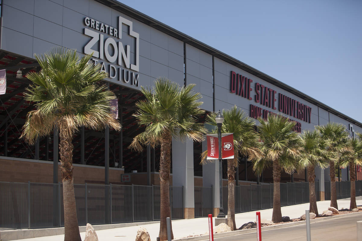 Greater Zion Stadium at Dixie State University is shown Tuesday, June 30, 2020, in St. George, ...