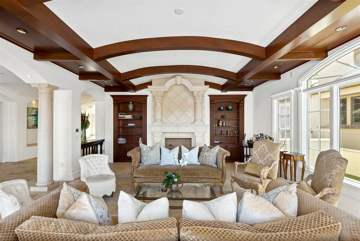 The living room. (Luxurious Real Estate)