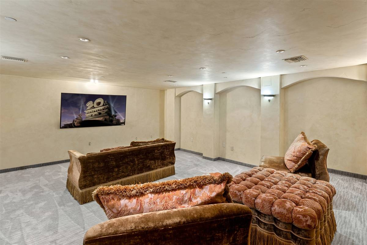 The home movie theater. (Luxurious Real Estate)