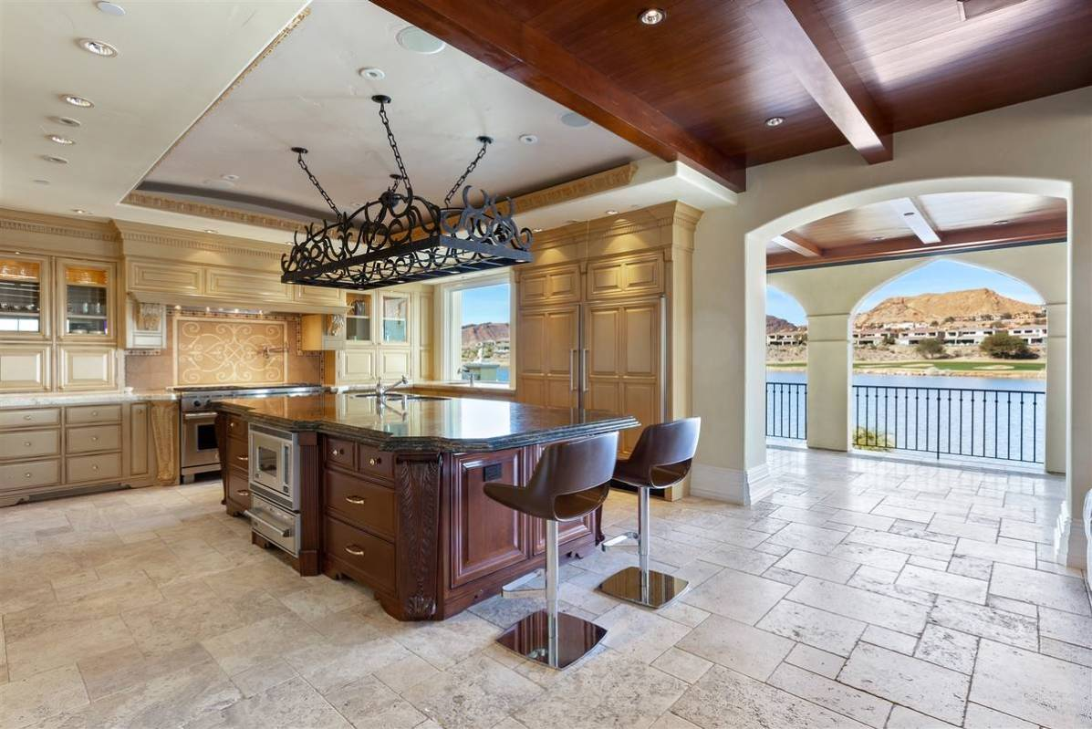 The main gourmet kitchen is one of three in the home. (Luxurious Real Estate)