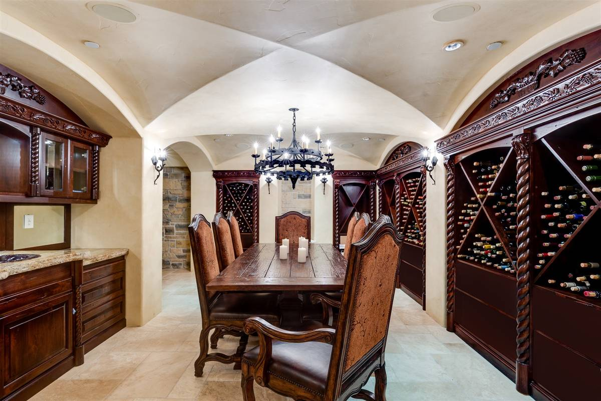 In the lower-level entertainment floor of the home there is a climate-controlled wine room. (Lu ...