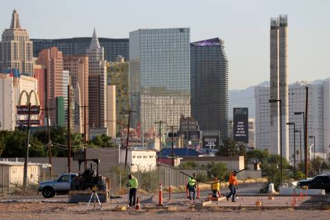 Construction continues on the new home of the Pinball Hall of Fame at 4915 Las Vegas Blvd. Sout ...