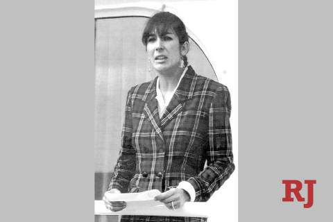 In a Nov. 7, 1991, file photo Ghislaine Maxwell, daughter of late British publisher Robert Maxw ...