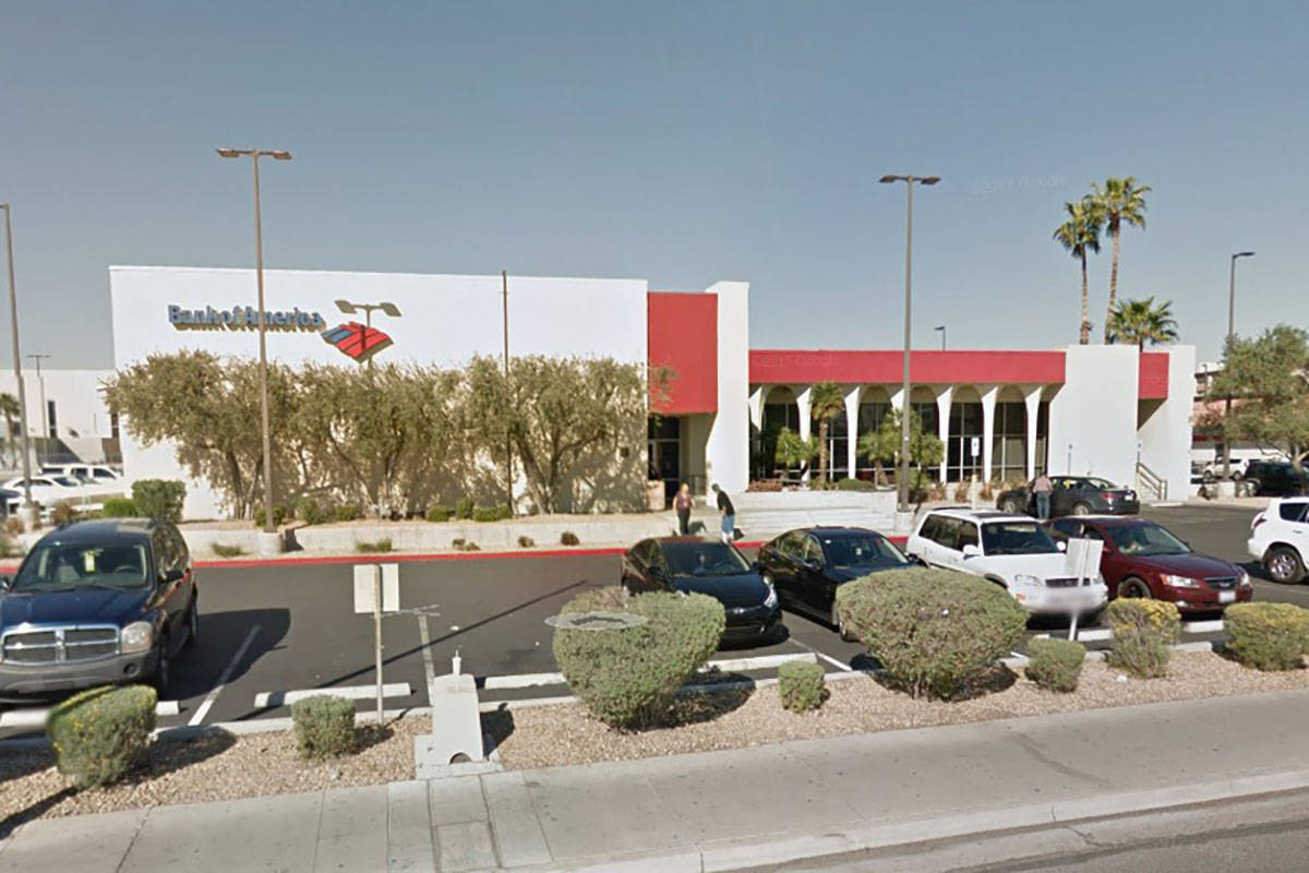 Bank of America on 4795 S. Maryland Parkway in Las Vegas (Google Maps)