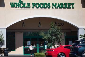 A customer enters the Whole Foods in Henderson, Thursday, July 2, 2020. (Rachel Aston/Las Vegas ...