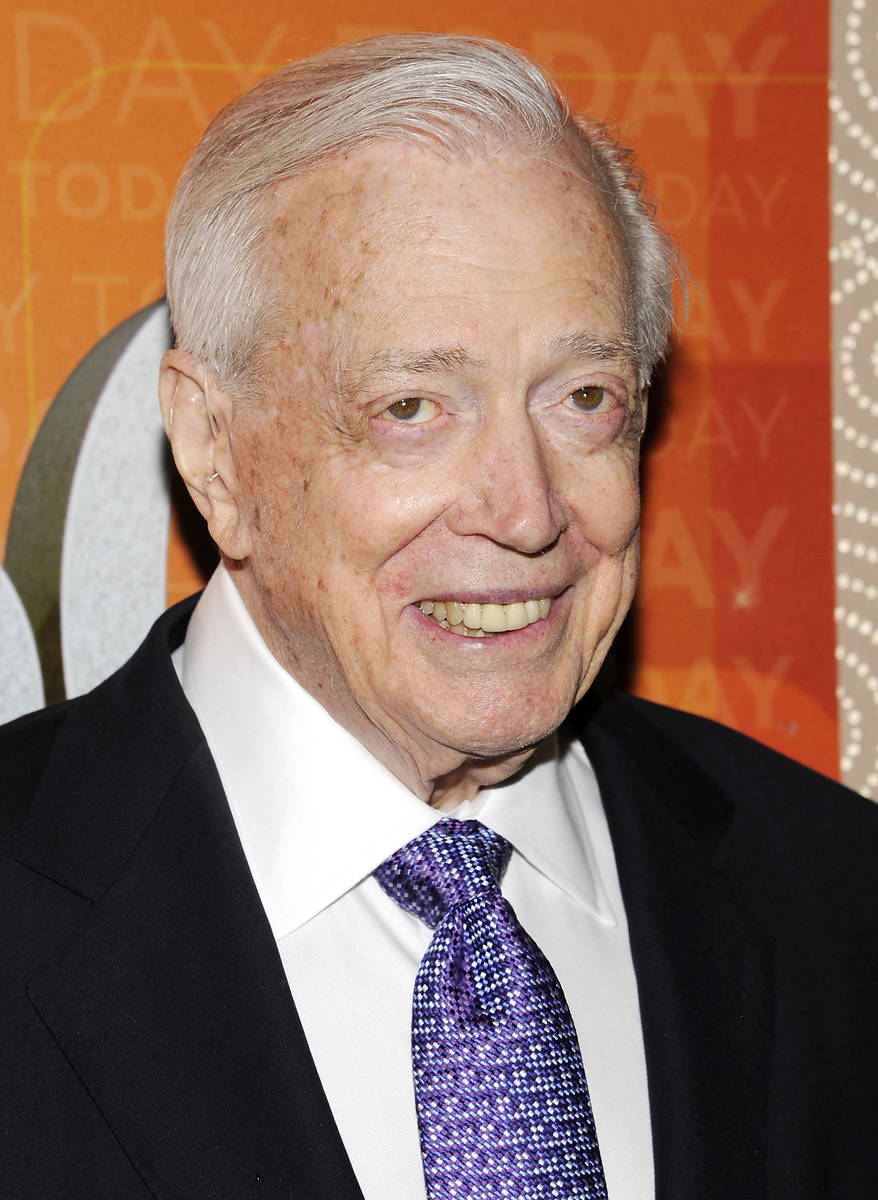"""FILE - This Jan. 12, 2012 file photo shows Hugh Downs at the """"Today"""" show 60th annive ..."""