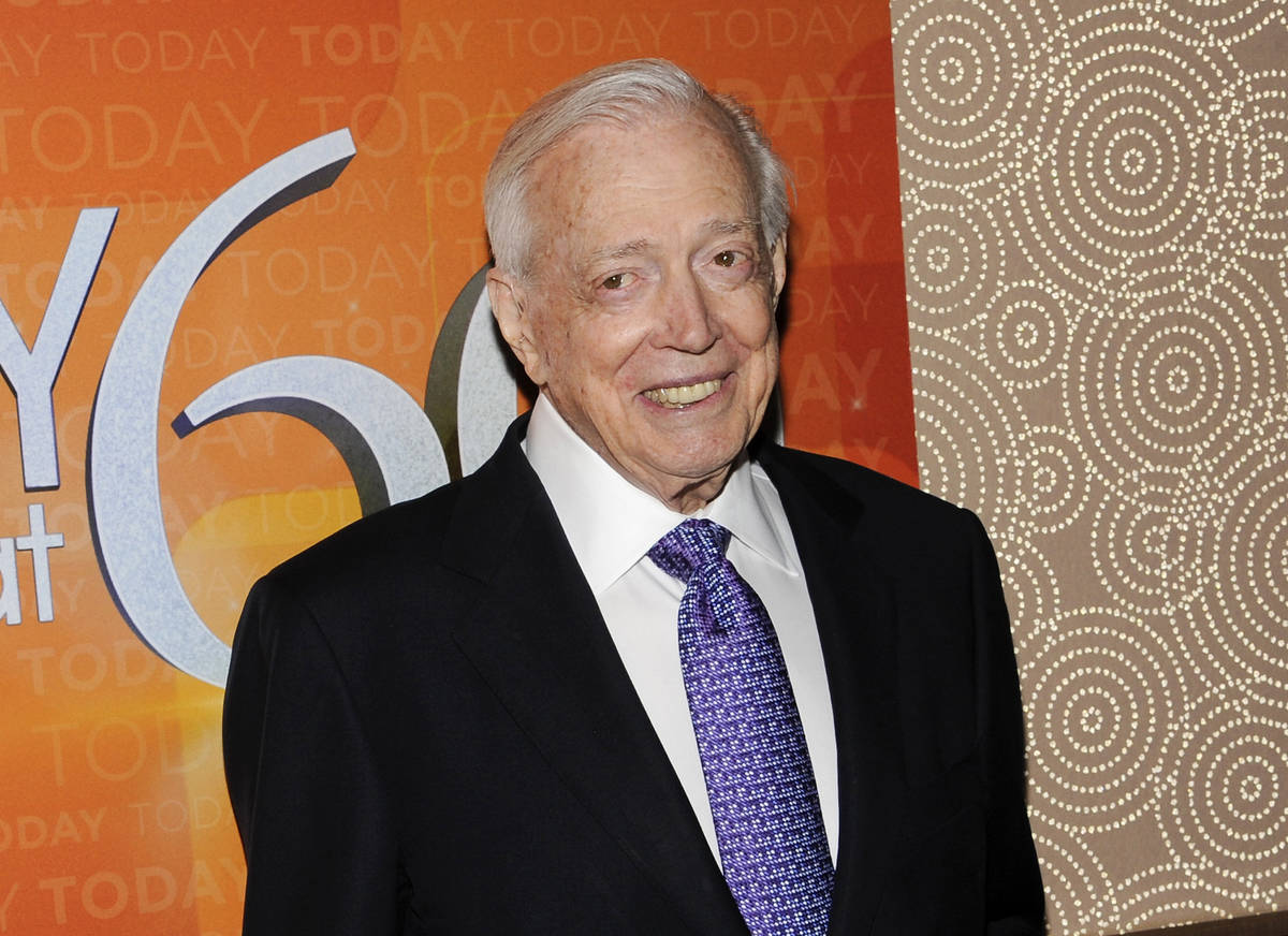 """A Jan. 12, 2012, file photo shows Hugh Downs at the """"Today"""" show 60th anniversary celebration i ..."""
