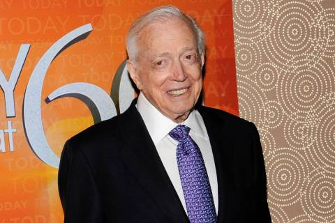 "A Jan. 12, 2012, file photo shows Hugh Downs at the ""Today"" show 60th anniversary celebration i ..."
