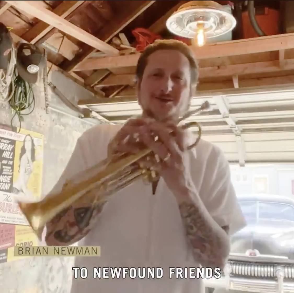 Band leader and trumpet great Brian Newman is shown in a new social media campaign launched by ...