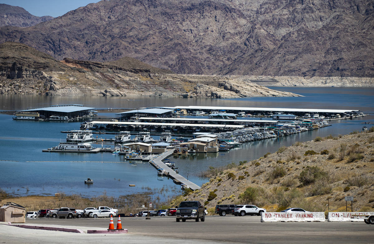 Callville Bay Marina at Lake Mead National Recreation Area on Wednesday, July 29, 2020. (Chase ...