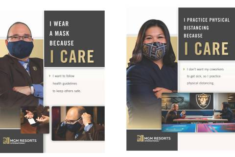"""Posters promoting MGM Resorts International's """"Take 5"""" campaign. (Courtesy)"""