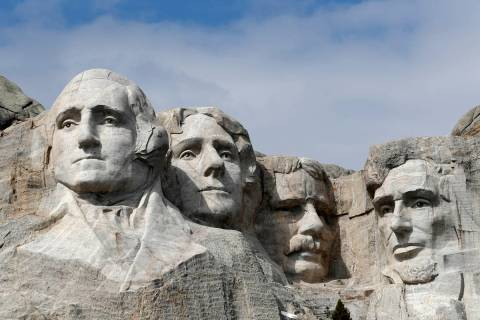A March 22, 2019, file photo shows Mount Rushmore in Keystone, S.D. President Donald Trump wil ...
