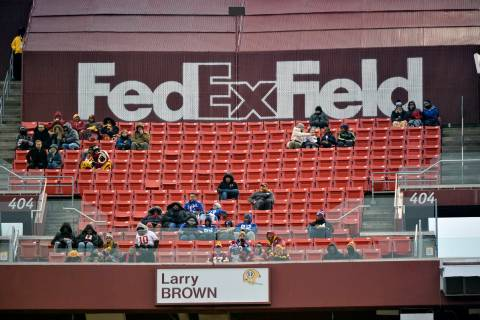 In this Dec. 9, 2018, file photo, FedEx Field is less than full during the second half of an NF ...