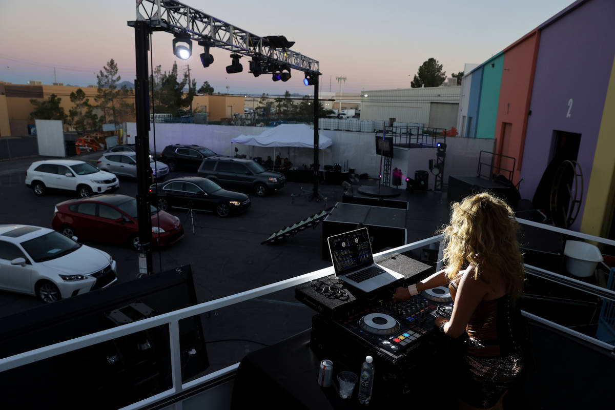 "DJ Liz Clark spins before Jennifer Romas' ""Sexxy The Show"" at Dreamland Drive-In at FreshWata S ..."