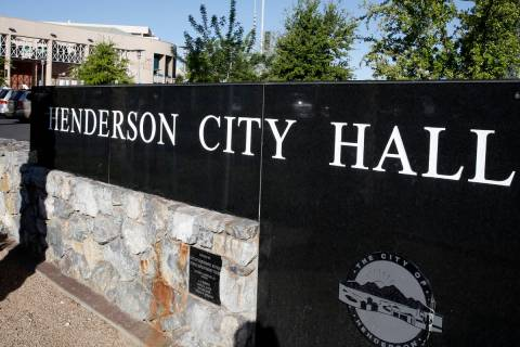Henderson City Hall. Bizuayehu Tesfaye Las Vegas Review-Journal @bizutesfaye