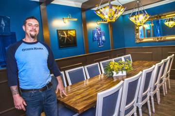 Chef Dan Krohmer in the private dining room at Other Mama in this 2017 file photo. (Benjamin Ha ...