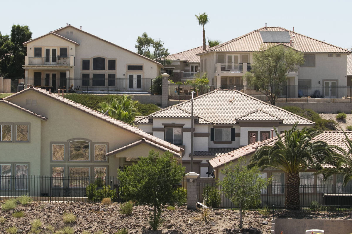 Homes in the Seven Hills community in Henderson, Tuesday, July 7, 2020. House prices hit an all ...