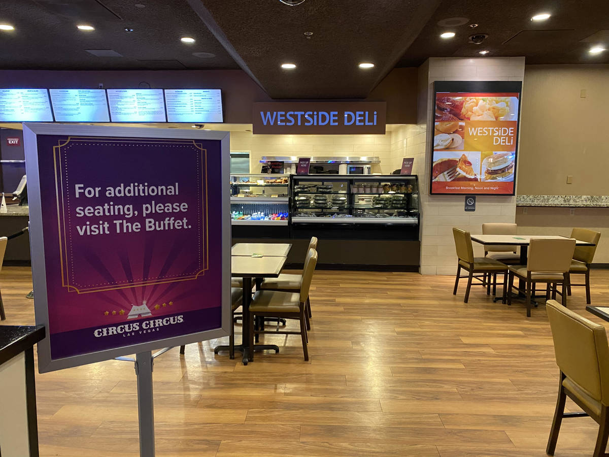 Circus Circus' legendary old-Vegas Steak House was ready to welcome customers on Thursday at ...