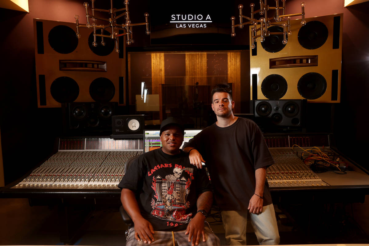 """Dominic """"DJ"""" Jordan, left, and Jimmy """"Jimmy G"""" Giannos of The Audibles at r ..."""