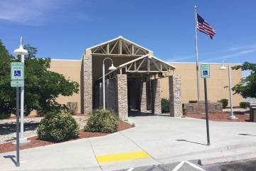 The Nye County Courthouse in Pahrump is home to the Fifth Judicial District Court and Pahrump J ...