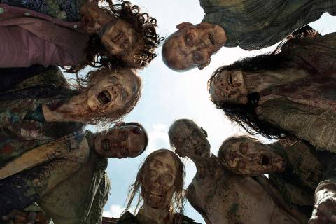 "If zombies, like these walkers from ""The Walking Dead"" should rise, Nevada is better positioned ..."