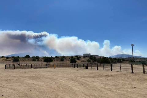 The Numbers Fire is estimated to be at 10,000 acres. (Bureau of Land Management Facebook)