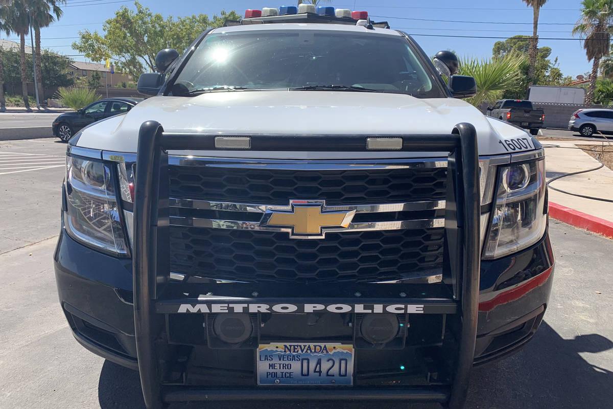 Las Vegas police vehicle. (Las Vegas Review-Journal)