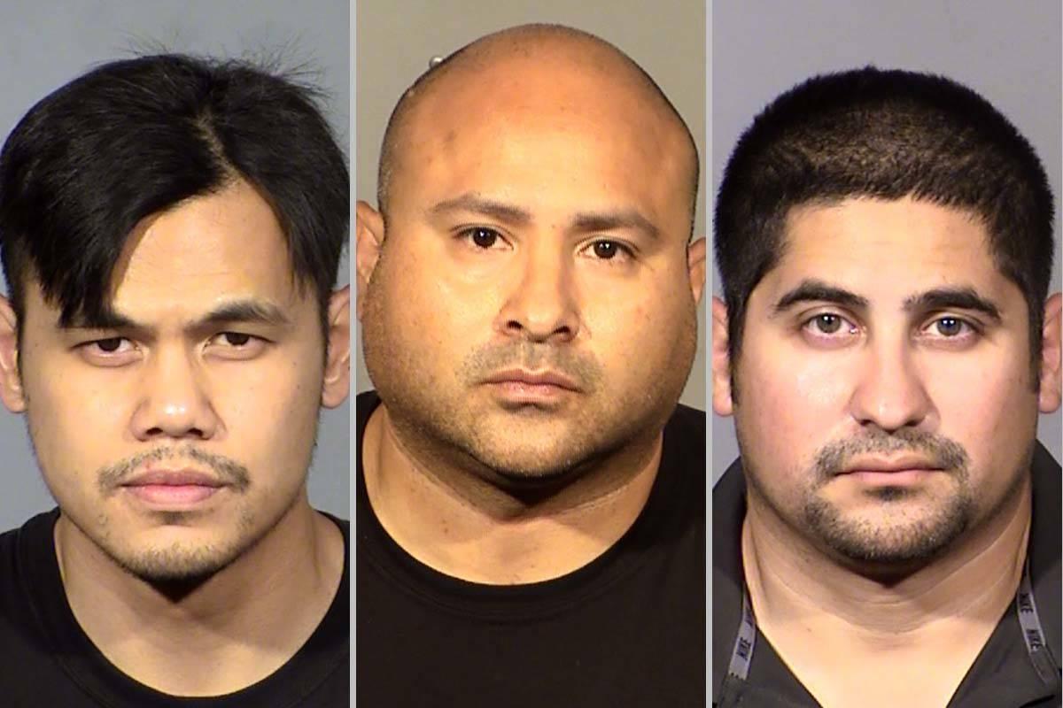 Xerxes Sangco (from left), Raymond Castro and David Arroyo. (Las Vegas Metropolitan Police Depa ...