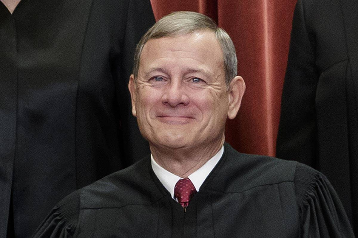 A Nov. 30, 2018, file photo shows Chief Justice of the United States, John Roberts, as he sits ...