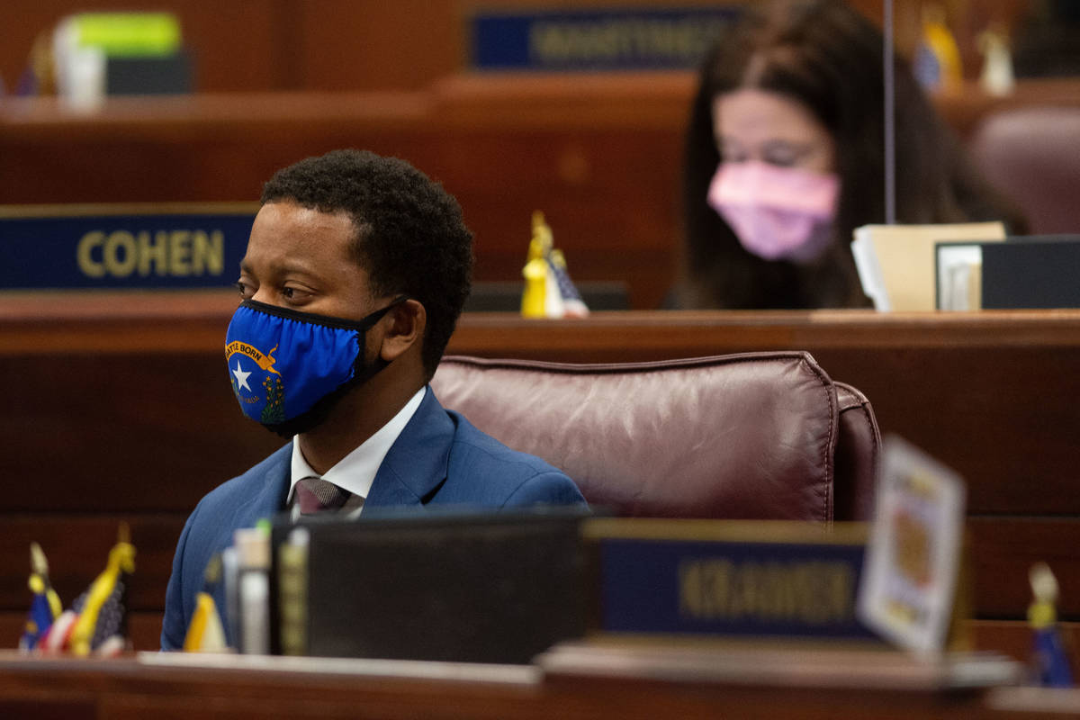Nevada Assemblyman, William McCurdy II, inside the Assembly chambers on the first day of the 31 ...