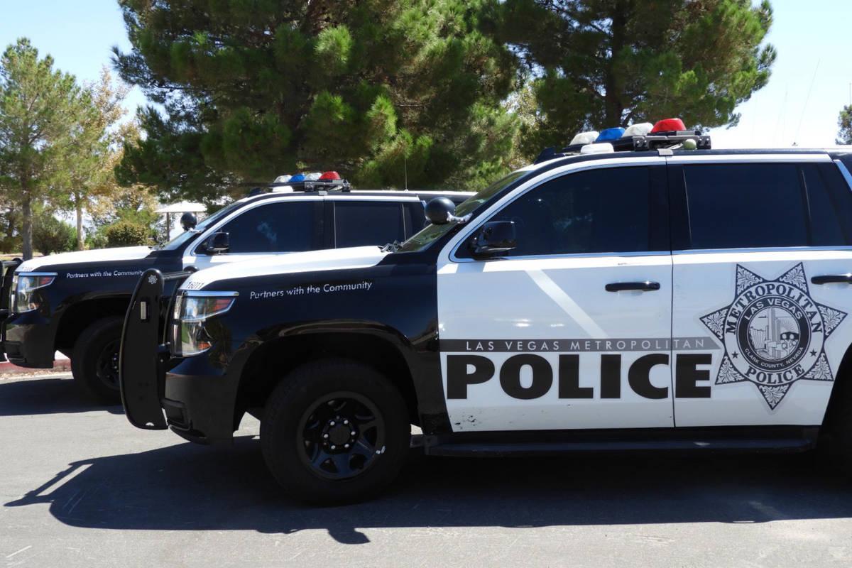 Las Vegas Metropolitan Police vehicles. (Las Vegas Review-Journal)