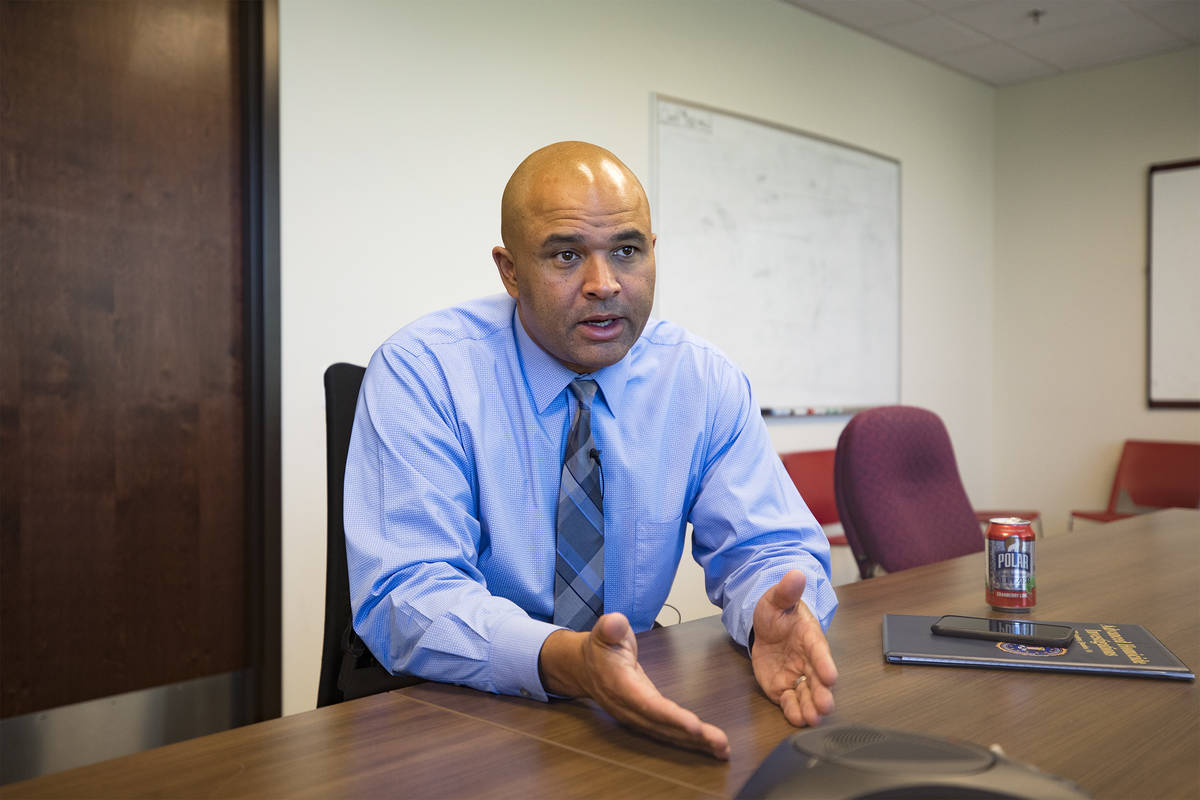 Metropolitan Police Department homicide Lt. Ray Spencer speaks with the Review-Journal about mi ...
