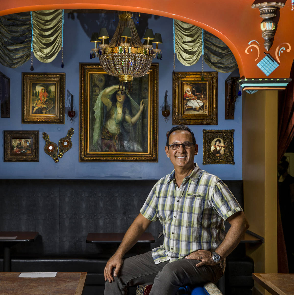 Paymon Raouf of Paymon's Mediterranean CafŽ & Hookah Lounge on Wednesday, July 8, 202 ...