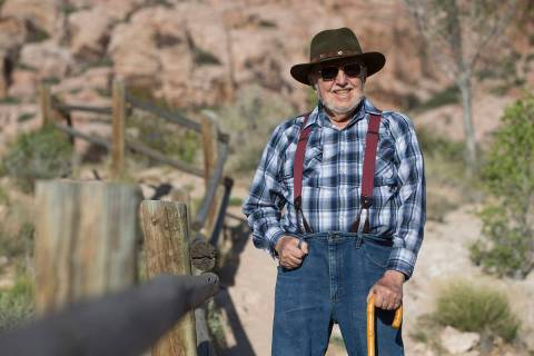 Author A.D. Hopkins at Red Rock Canyon National Conservation Area on Friday, April 23, 2018, ou ...