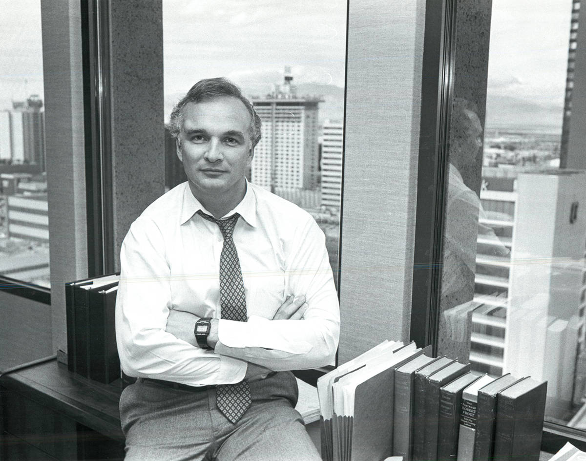 Stan Hunterton, 1984. (Gary Thompson/Las Vegas Review-Journal)