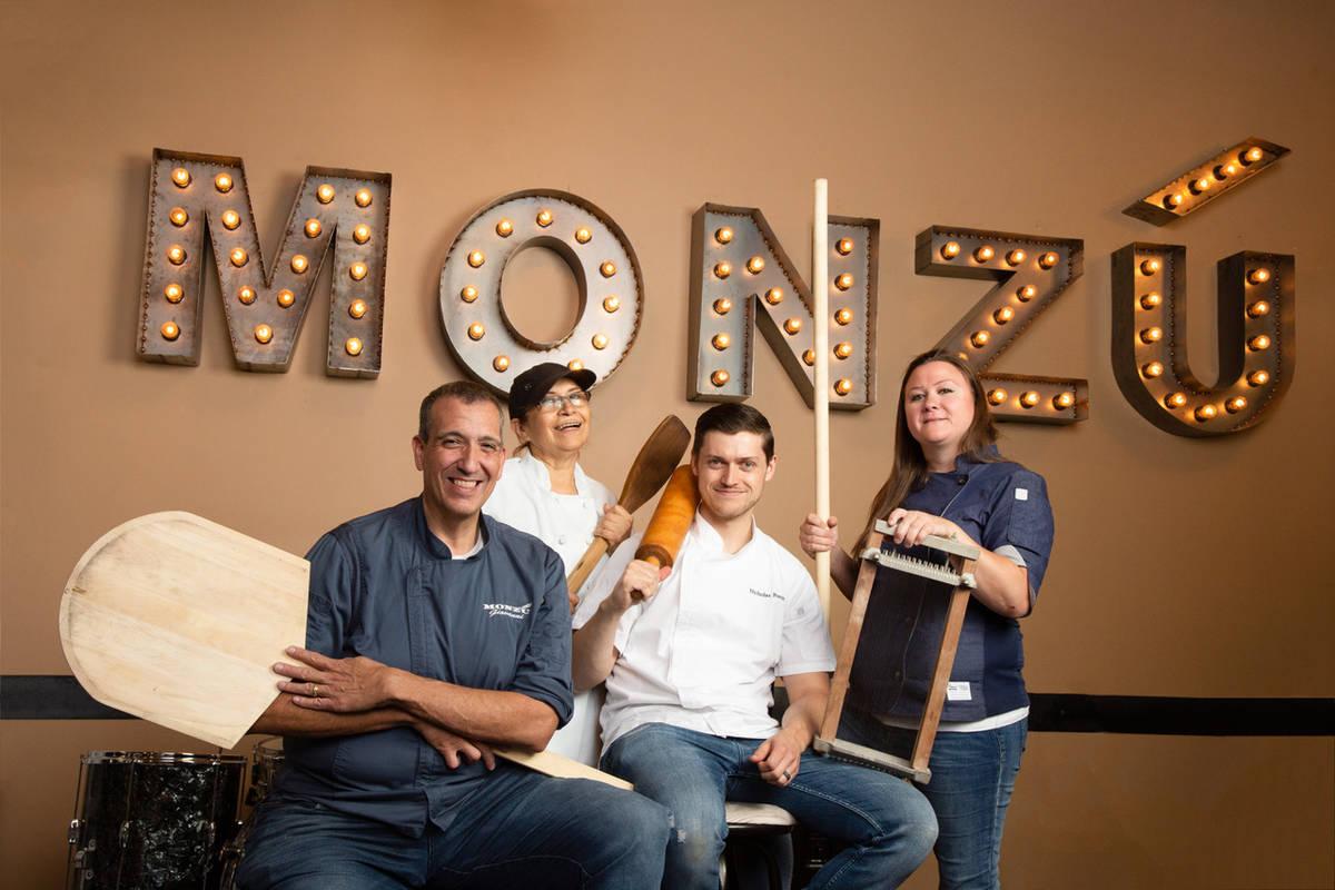 (Left to right) Giovanni Maurro, Maria Garrido, Nicholas Forte, Nicole Brisson (Steven Joseph, ...