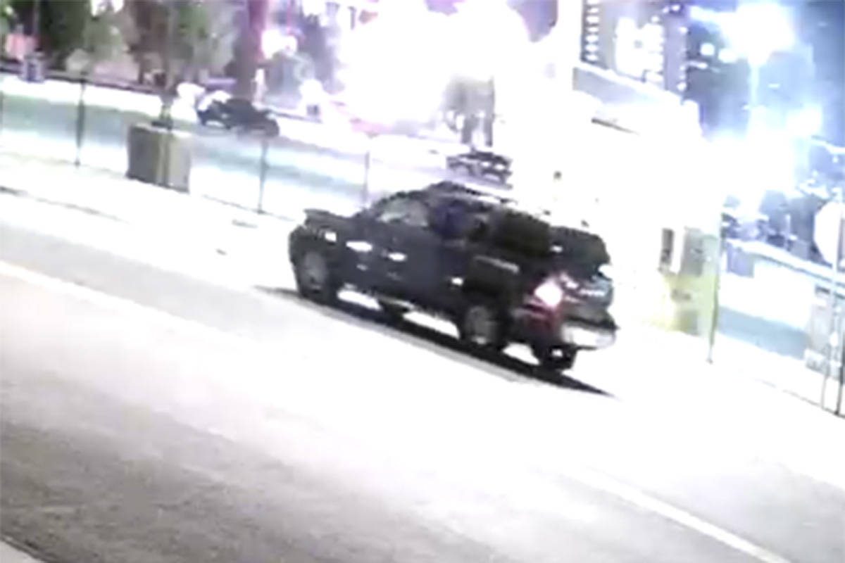 Police are seeking a man who drove off in a black SUV in connection to an assault and robbery o ...