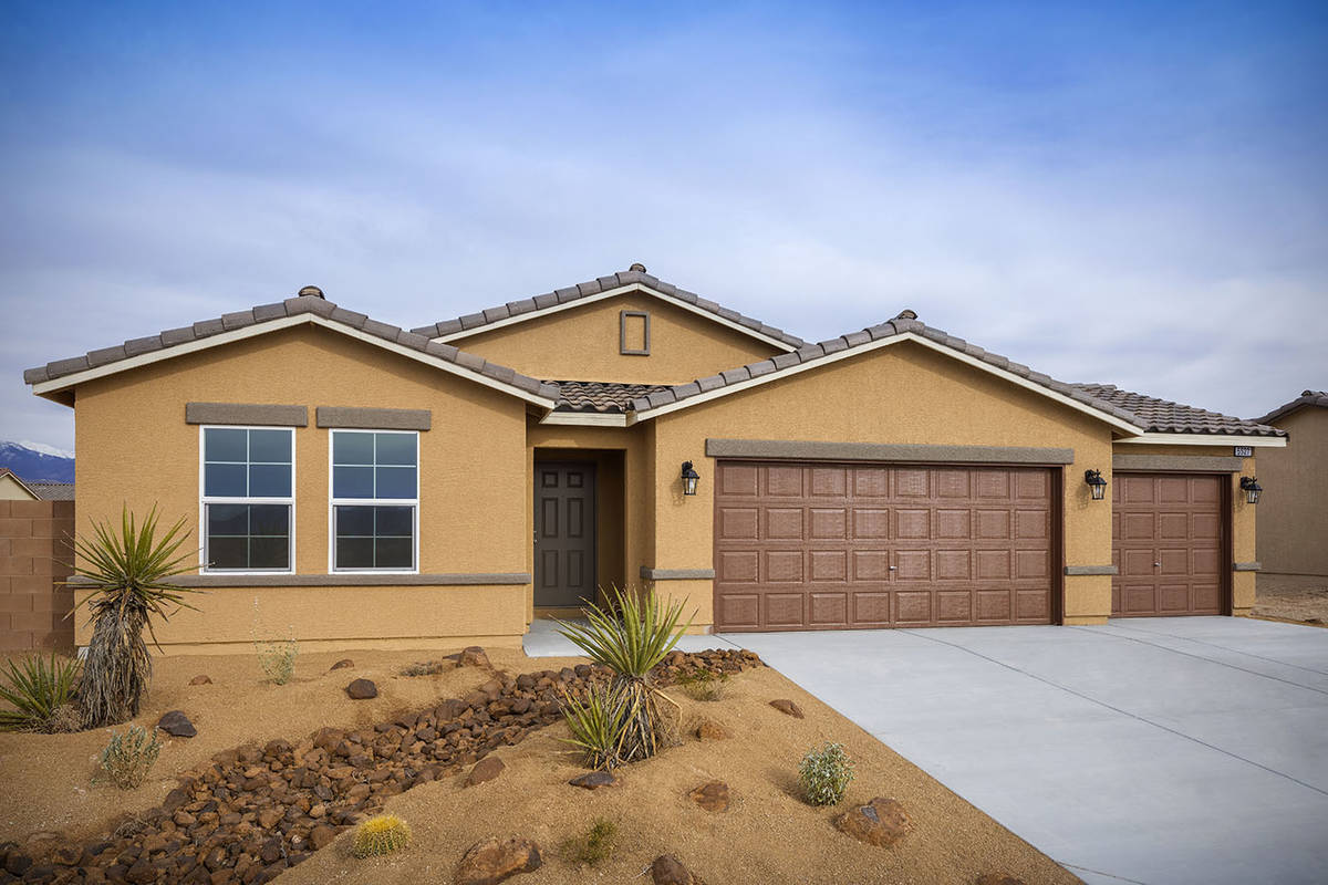 The collection of new single- and two-story homes at Burson communities in Pahrump will be held ...