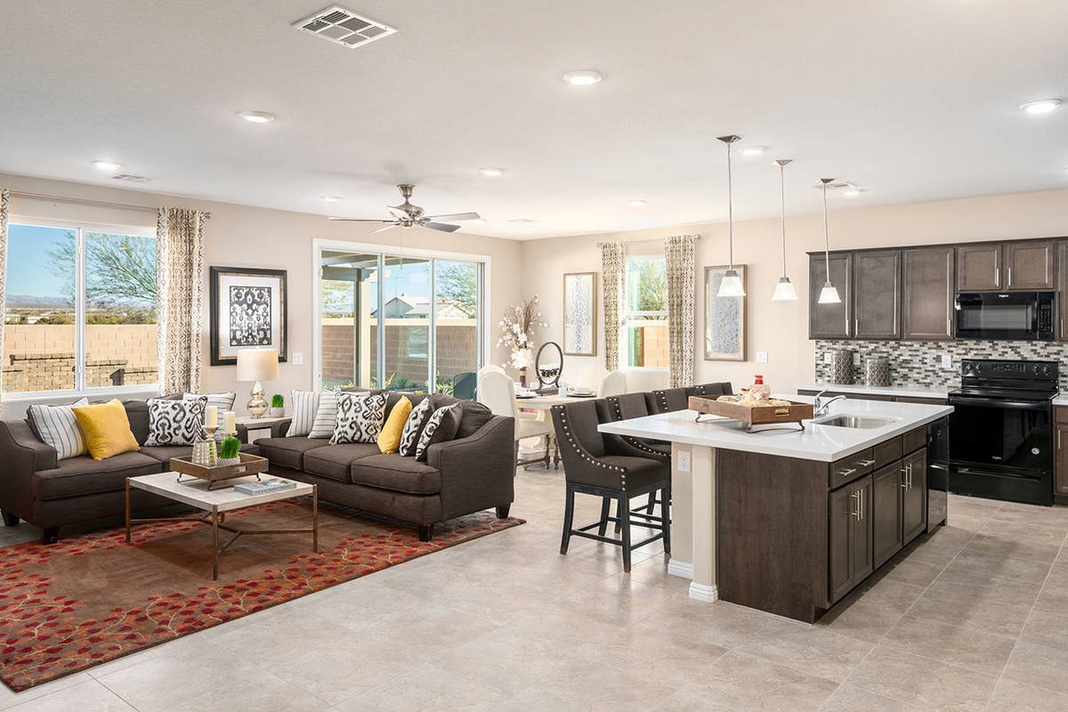 Prices in Beazer Homes' Burson communities in Pahrump start in the low $200,000s. (Mark Skalny/ ...