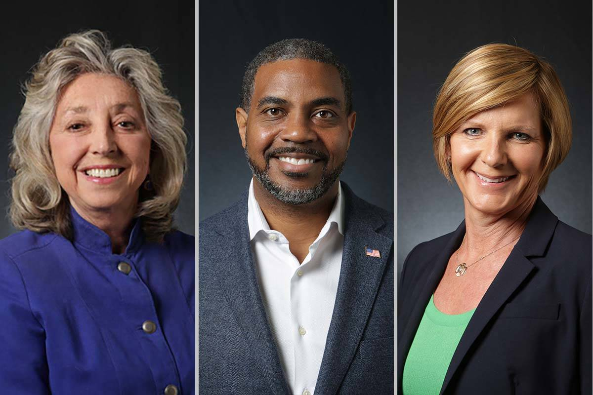 Reps. Dina Titus, left, Steven Horsford and Susie Lee, all Nevada Democrats, are pushing Armed ...