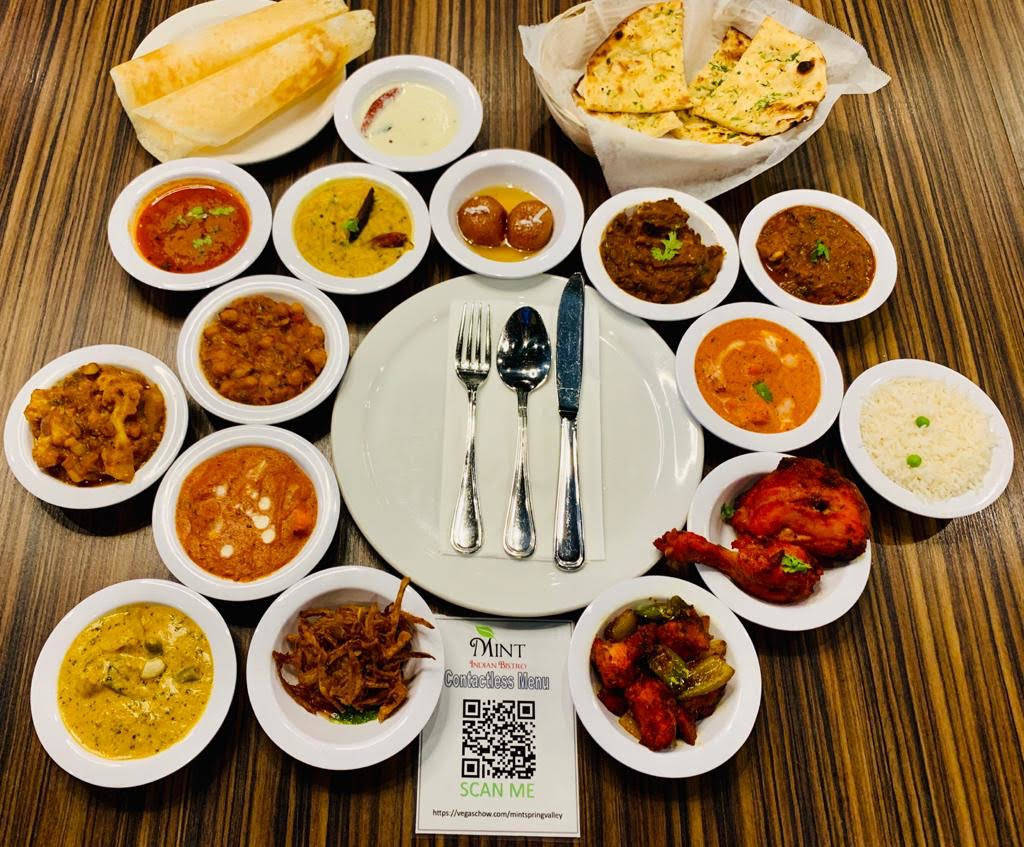 Some buffet dishes at Mint Indian Bistro. (Mint Indian Bistro)