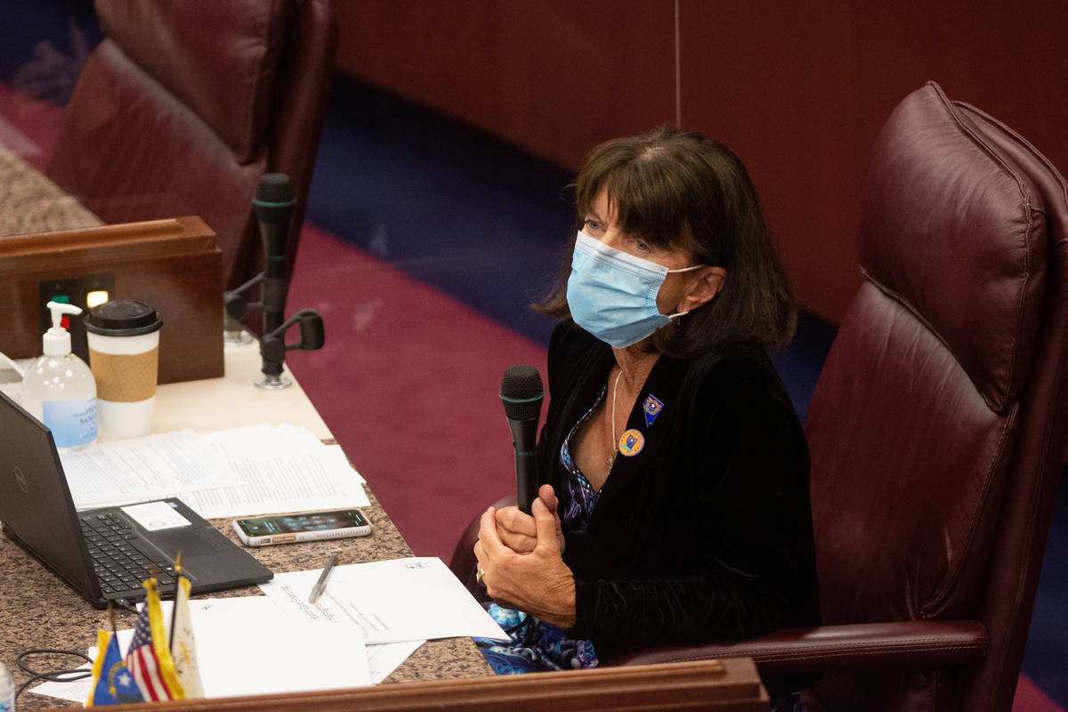 Nevada Assemblywoman Robin Titus inside the Assembly chambers on the second day of the 31st Spe ...