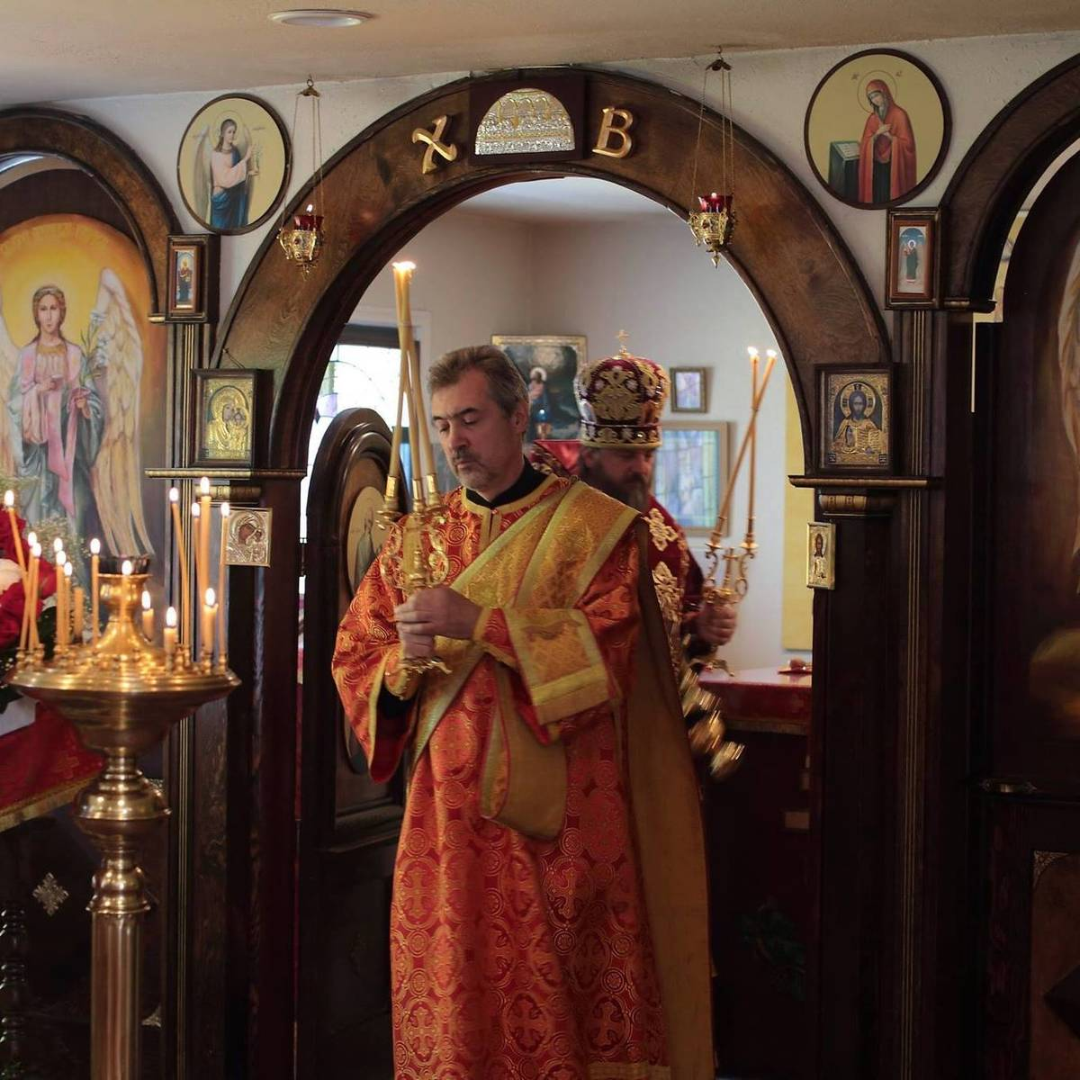 Alexander Gousev, 57, serving his duties as a deacon at the Holy Royal Martyrs of Russia Church ...