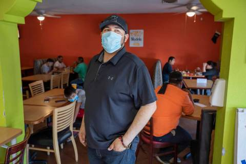 El Menudazo manager Jose Gonzalez is photographed in the restaurant in North Las Vegas on Frida ...