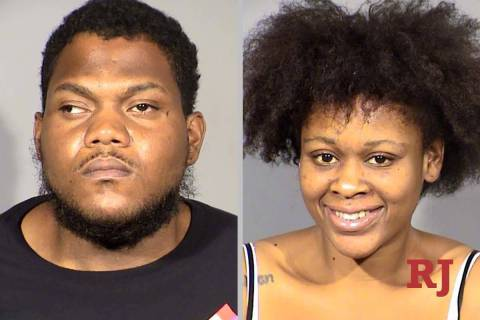 Marquell McAlister and Brittany Clark. (Las Vegas Metropolitan Police Department)
