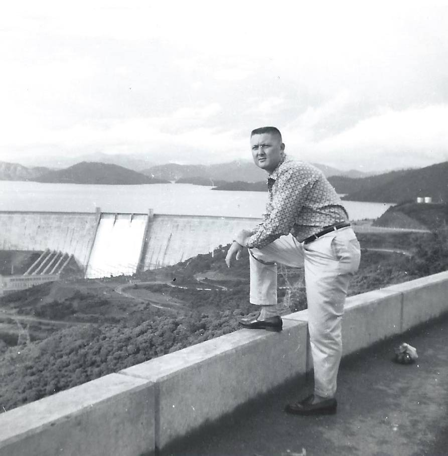 John H. Robinson visits the Hoover Dam sometime in the 1960s. Courtesy of the Robinson family.