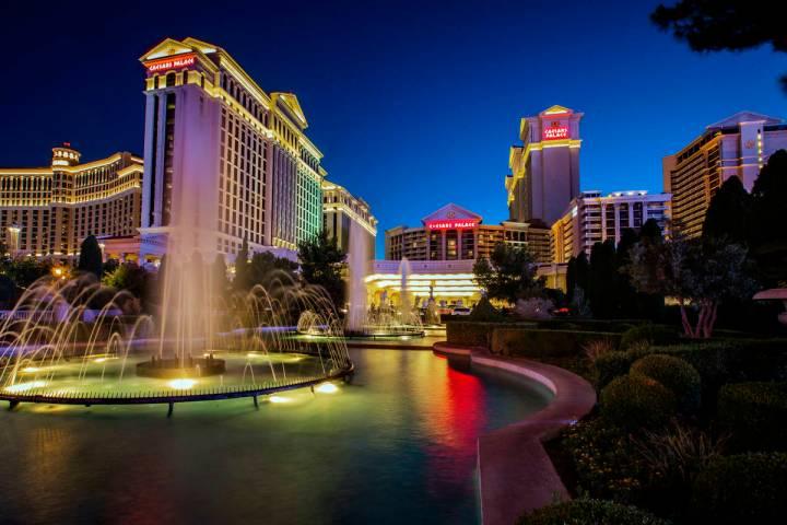 This June 23, 2019, file photo shows Caesars Palace in Las Vegas. (L.E. Baskow/Las Vegas Revie ...