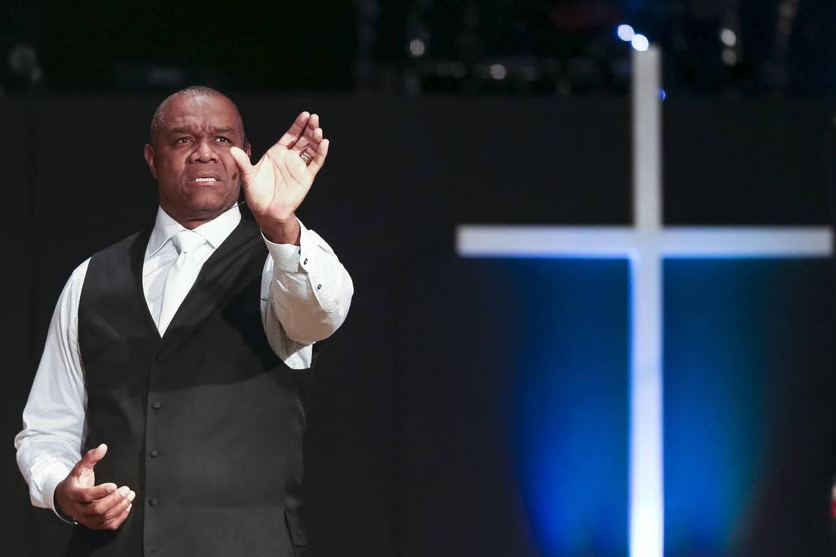 Former Philadelphia Eagles quarterback and Remnant Ministries Pastor Randall Cunningham deliver ...