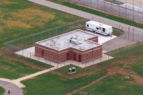 FILE - In this June 11, 2001 file photo, an aerial view of the execution facility at the United ...