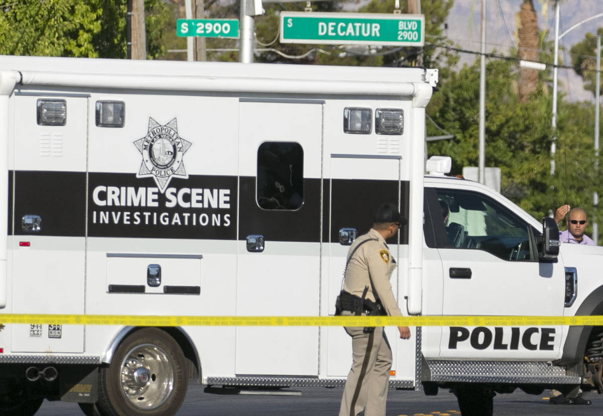The Metropolitan Police Department is investigating a homicide at West Decatur Boulevard and Pe ...